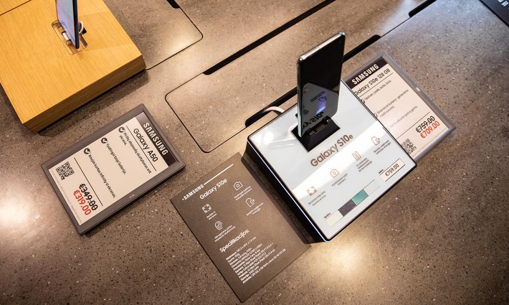 Samsung elektroninės kainų etiketės